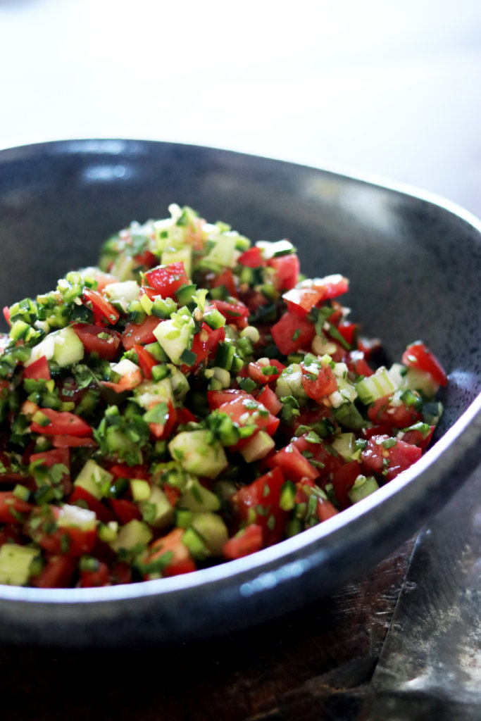 Picture of santa maria style salsa in a bowl
